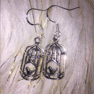 925 sterling silver Birdcage earrings